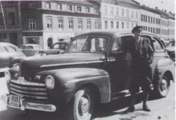 en gammel taxi